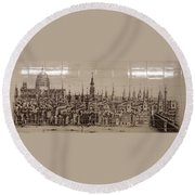 Southwark Bridge Artwork Round Beach Towel