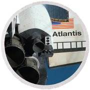 Space Shuttle Atlantis Round Beach Towel