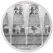 Stamp Act Repeal, 1766 Round Beach Towel