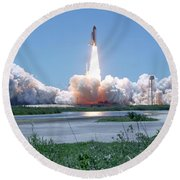 Sts-121 Launch Round Beach Towel