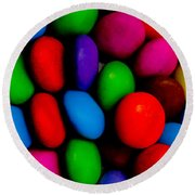 Sweet Abstract Round Beach Towel