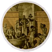 The Art Of Brewing, Babylon Round Beach Towel by Science Source