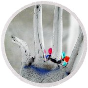 The Black Hand In Negative Round Beach Towel