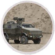 The German Army Atf Dingo Armored Round Beach Towel