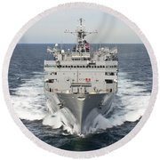 The Military Sealift Command Fast Round Beach Towel