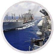 The Military Sealift Command Fleet Round Beach Towel