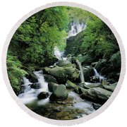 Torc Waterfall, Killarney, Co Kerry Round Beach Towel