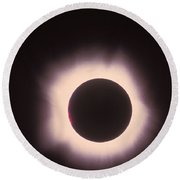 Total Solar Eclipse With Corona Round Beach Towel
