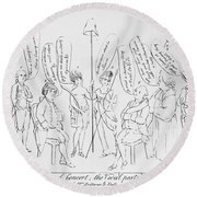 `treaty Of Paris, 1783 Round Beach Towel