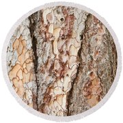Tree Bark Round Beach Towel