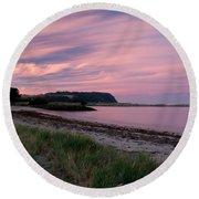 Twilight After A Sunset At A Beach Round Beach Towel by Ulrich Schade