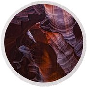 Upper Antelope Canyon, Arizona Round Beach Towel