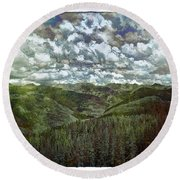 Vail Vista Round Beach Towel