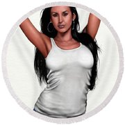 Vanity Round Beach Towel
