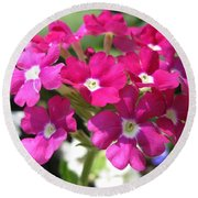 Verbena From The Ideal Florist Mix Round Beach Towel