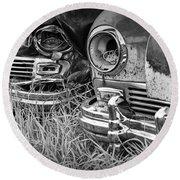 Vintage Frazer Auto Wreck Front Ends  Round Beach Towel