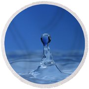 Water Droplet Round Beach Towel