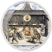 Willem Barents (c1550-1597) Round Beach Towel