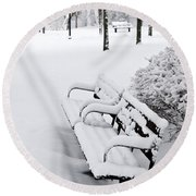 Winter Park Round Beach Towel