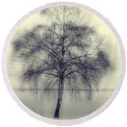 Winter Tree Round Beach Towel by Joana Kruse