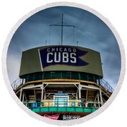 Wrigley Field Bleachers Round Beach Towel