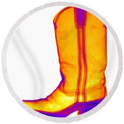 X-ray Of A Cowboy Boot Round Beach Towel
