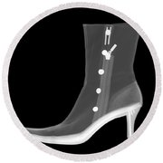 X-ray Of A Dress Boot Round Beach Towel