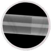 X-ray Of A Laser Tube Round Beach Towel