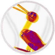 X-ray Of A Wooden Duck Toy Round Beach Towel