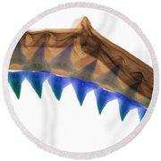 X-ray Of Shark Jaws Round Beach Towel