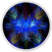 Fractal Round Beach Towel