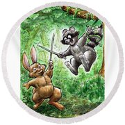 20 - Jennings State Forest - Sword Play Round Beach Towel