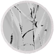 Water Reed Digital Art Round Beach Towel