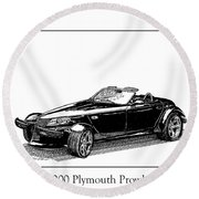 2000 Plymouth Prowler Round Beach Towel by Jack Pumphrey