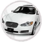2009 Jaguar Xf Luxury Car Round Beach Towel
