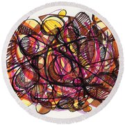2010 Abstract Drawing 24 Round Beach Towel