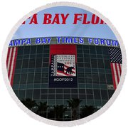 2012 Gop Convention Site Round Beach Towel