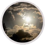 2012 Sunset October 26 Round Beach Towel