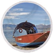 Lake Maggiore Round Beach Towel by Joana Kruse