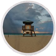 26- Storm Front Round Beach Towel