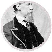 Charles Dickens (1812-1870) Round Beach Towel