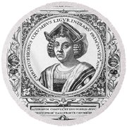 Christopher Columbus Round Beach Towel