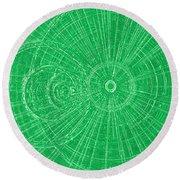 Circle Art Round Beach Towel