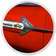 1960 Chevy Impala Convertable Round Beach Towel