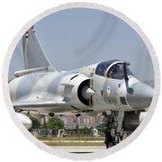 A Dassault Mirage 2000 Of The United Round Beach Towel