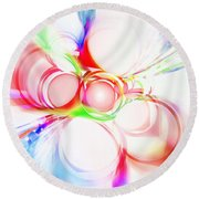 Abstract Of Circle  Round Beach Towel by Setsiri Silapasuwanchai