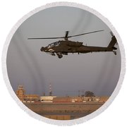 An Ah-64d Apache Longbow Block IIi Round Beach Towel by Terry Moore