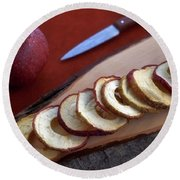 Apple Chips Round Beach Towel by Joana Kruse