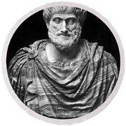 Aristotle (384-322 B.c.) Round Beach Towel