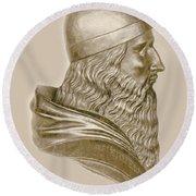 Aristotle, Ancient Greek Philosopher Round Beach Towel